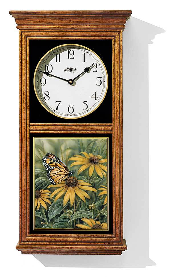 Monarch Butterfly Regulator Clock