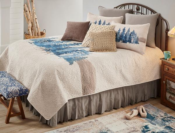 Moonlight Pines & Deer Bedding Set