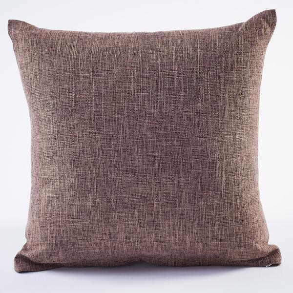 Cocoa Linen Decorative Pillow