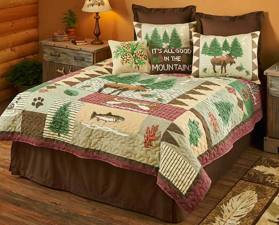 Moose Forest Bedding Set