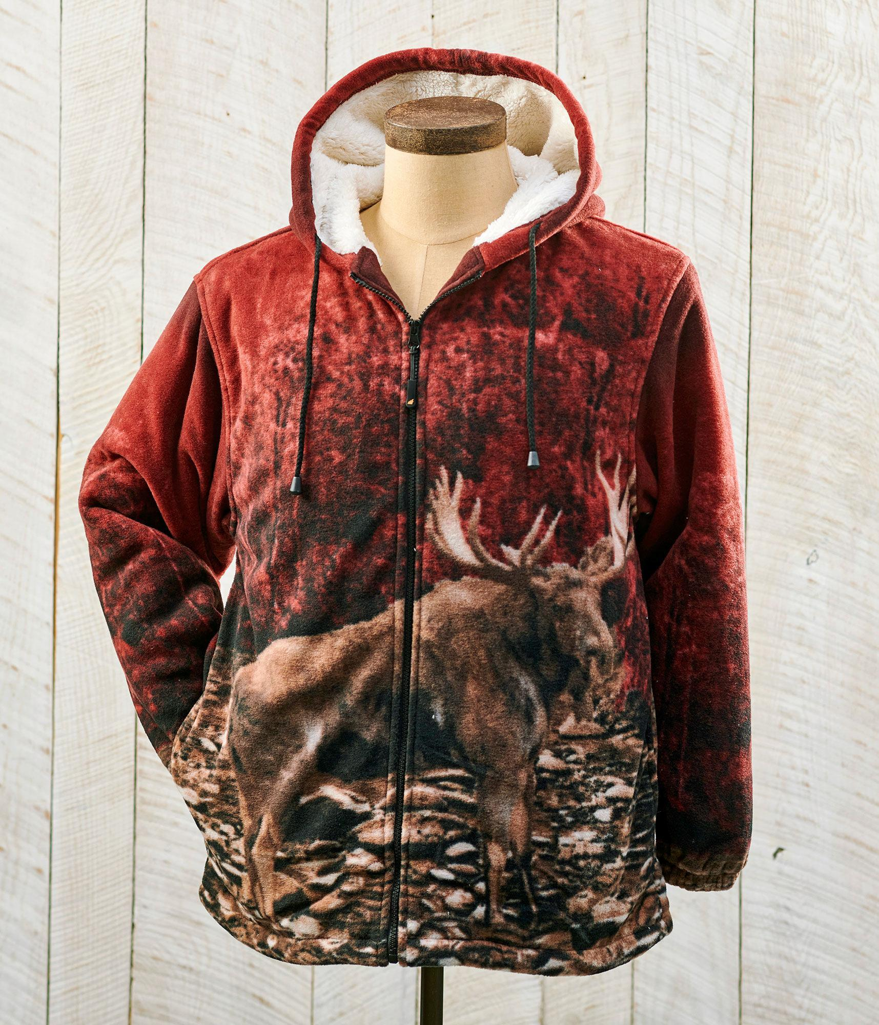 Moose Plush Hooded Jacket