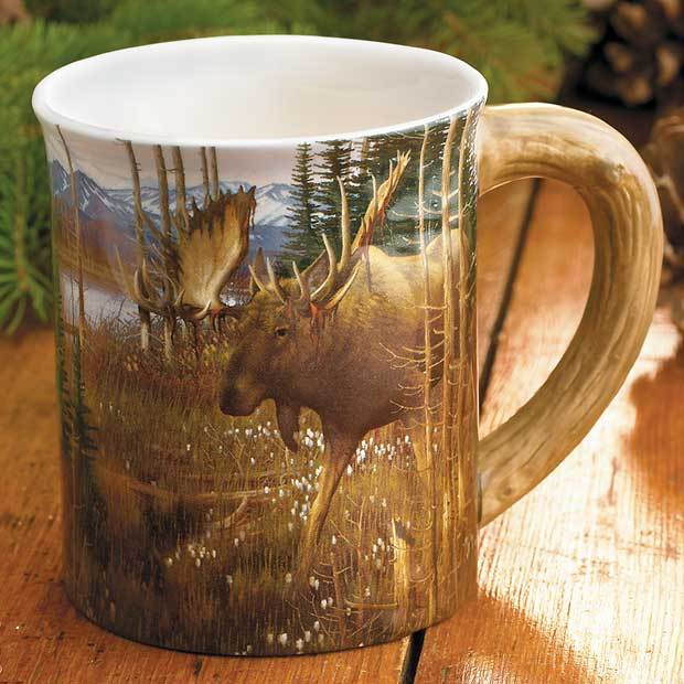 Moose Sculpted Mug