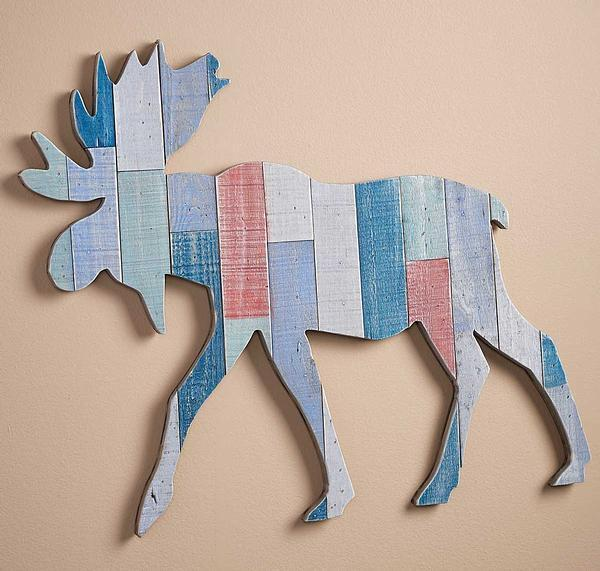 Moose Natural Wood Wall Decor