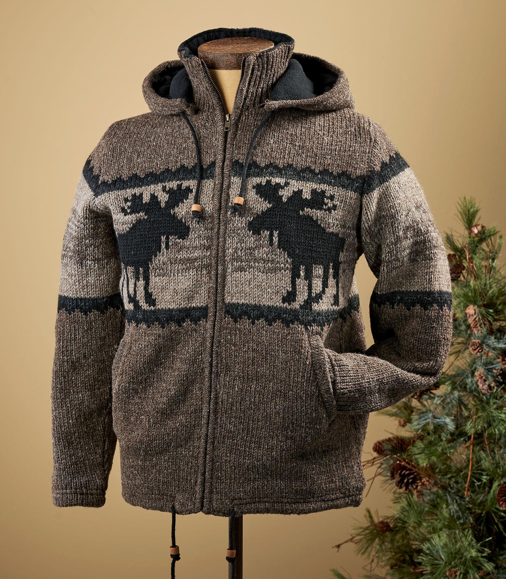 Moose Sweater Jacket