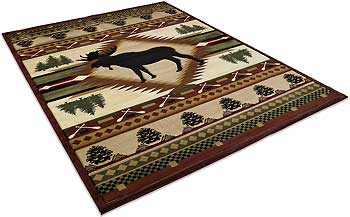 Moose Wilderness Area Rug Collection
