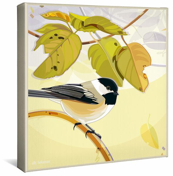 <I>Morning Light&mdash;chickadee</i> Gallery Wrapped Canvas