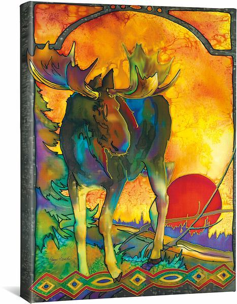 <I>Morning Moose</i> Gallery Wrapped Canvas