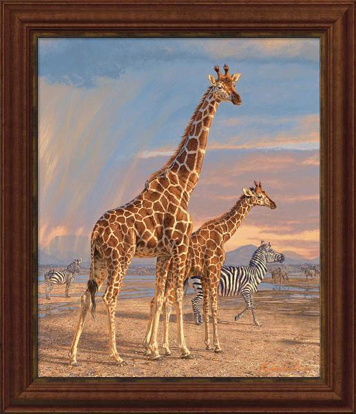 Mother's Vigilance—Giraffe.