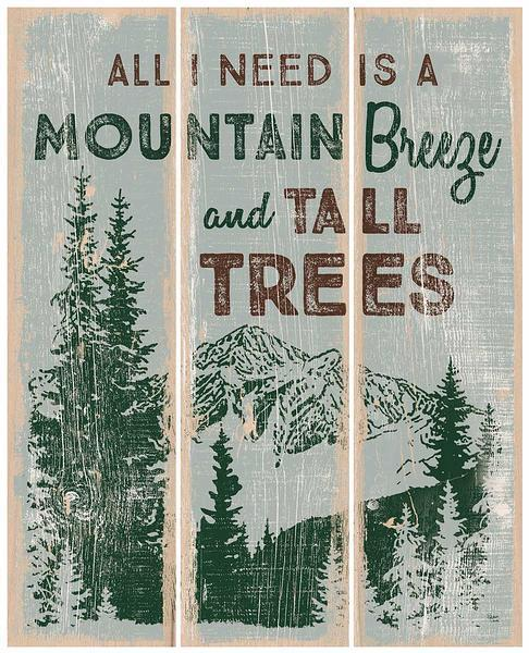 Mountain Breeze and Tall Trees.