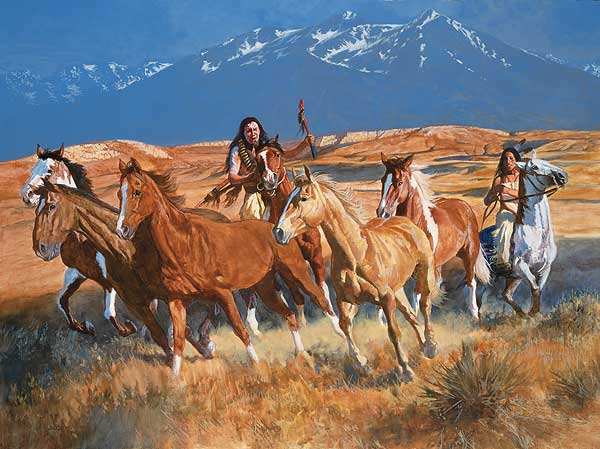 The Gathering-Native Americans Art Collection