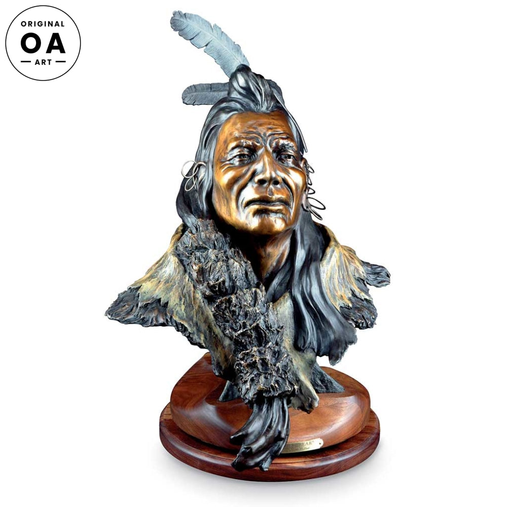 Quiet Bear-Native American Original Bronze Sculpture