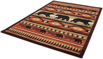 Native Bear Area Rug Collection