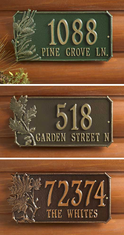 Leaves Address Plaque Collection