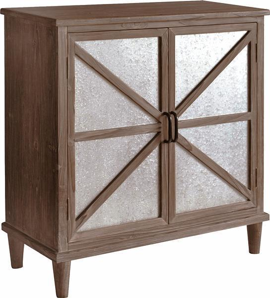 Galvanized Barn Door Cabinet