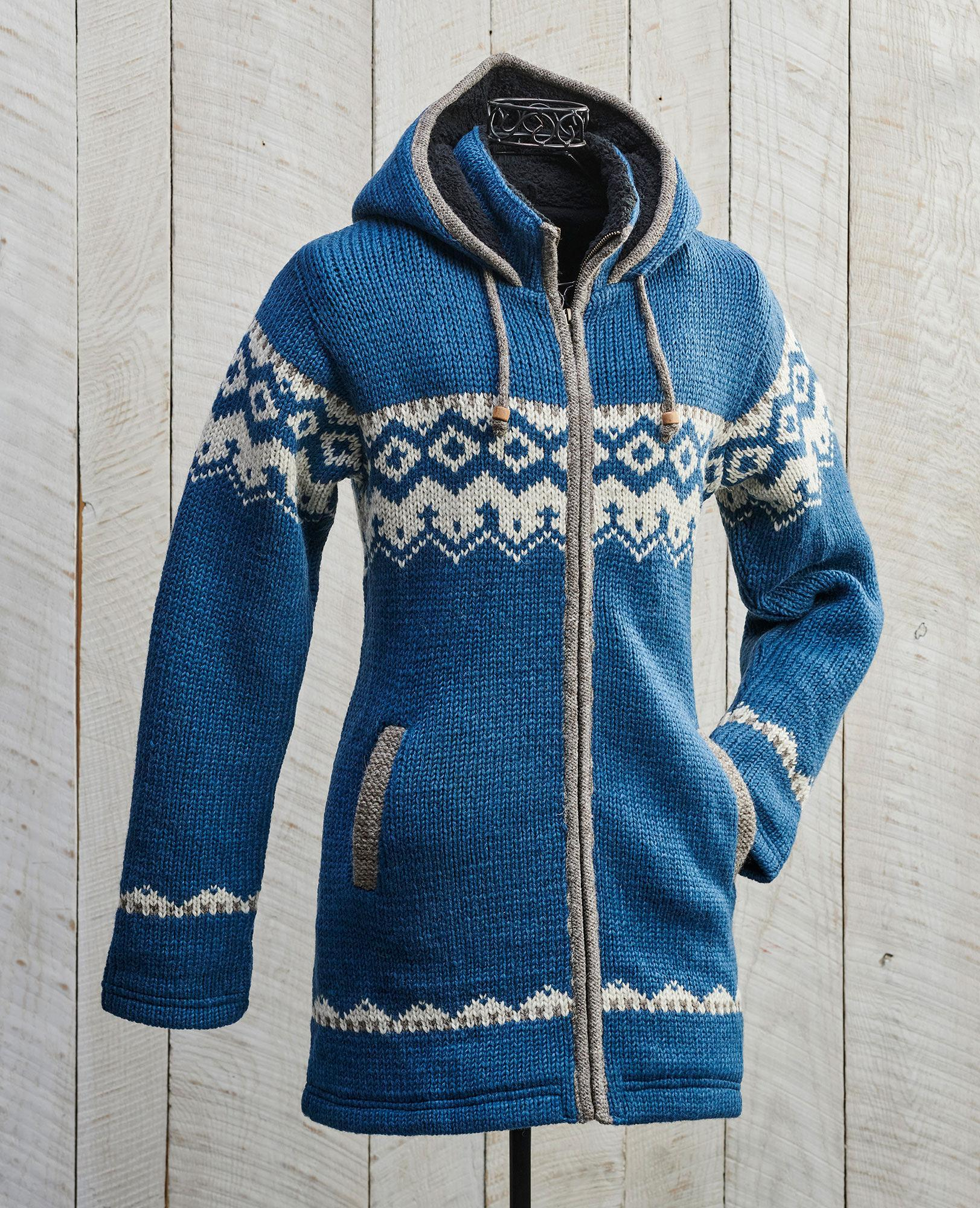 Nordic Blue Sweater Jacket