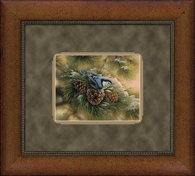 <I>December Dawn&mdash;nuthatch</i> Gna Deluxe Framed Print<Br/>21.5H X 23.5W Art Collection