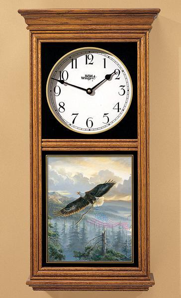 <I>Rebuilding America&mdash;bald Eagle</i> Regulator Clock