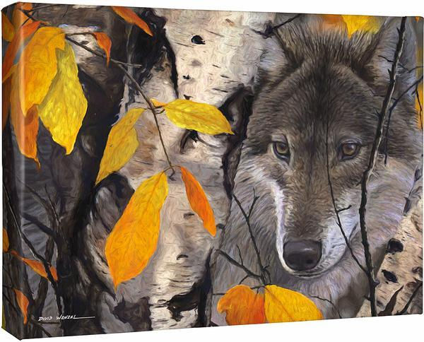 <I>October Gray&mdash;wolf</i> Gallery Wrapped Canvas