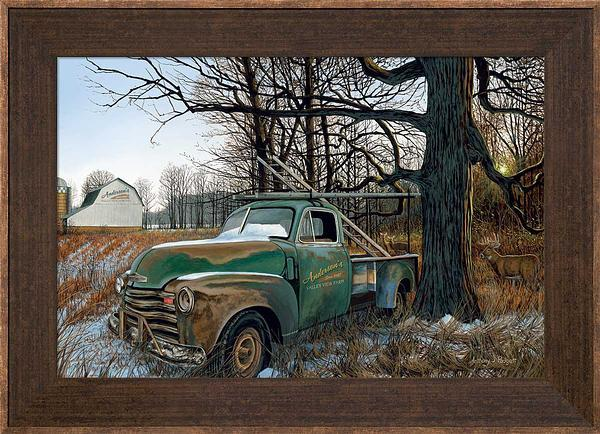 Ol Work Truck—whitetail Deer Personalized Framed Canvas