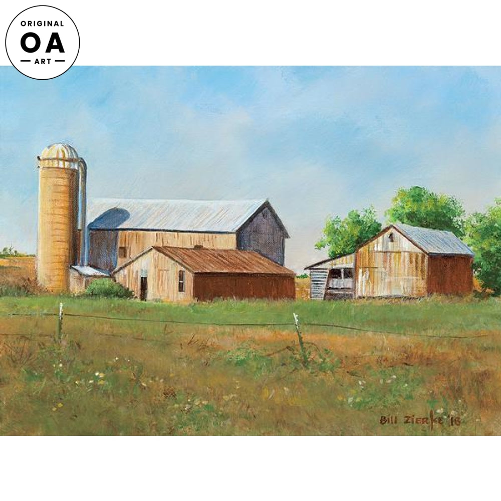 Old Brown Barns Original Artwork