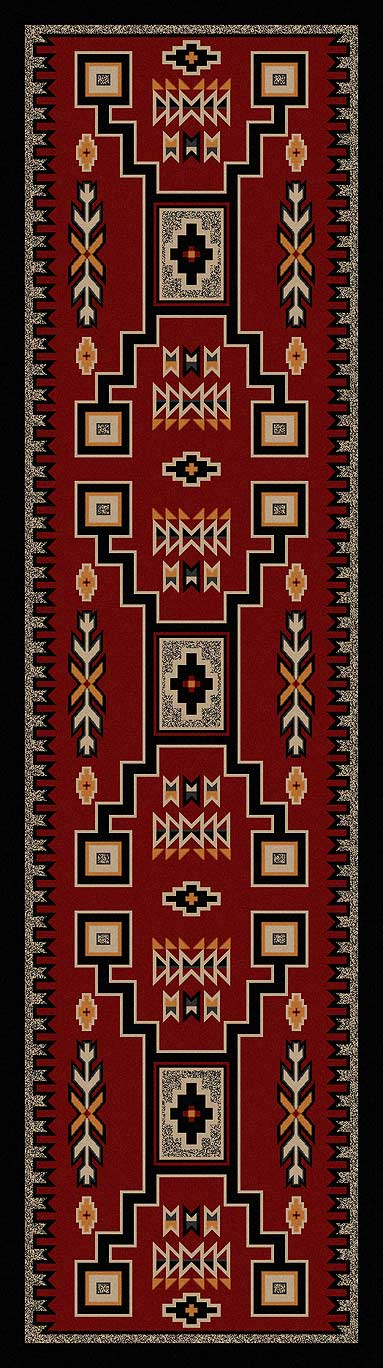 Old Crow Blanket Area Rug
