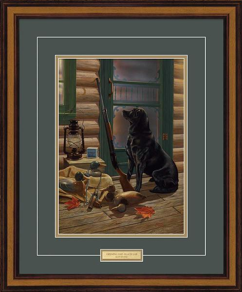 Opening Day-Black Lab Art Collection