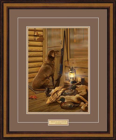 Opening Day-Chocolate Lab Art Collection