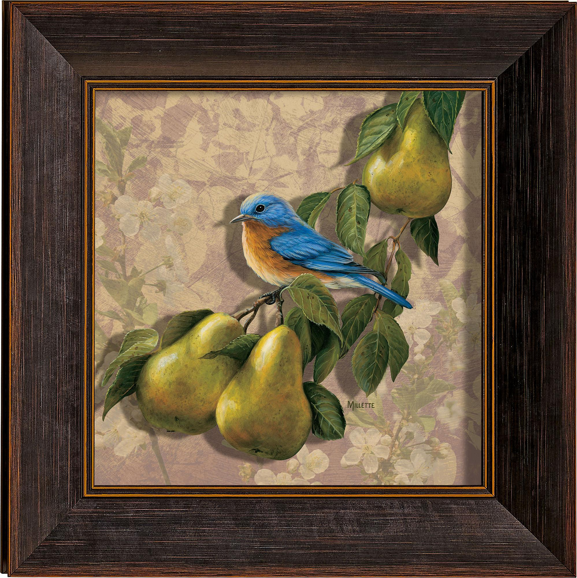 Orchard Visitor-Bluebird and Pears Art Collection