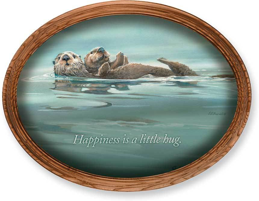 <I>Drifters&mdash;otters</i> Framed Inspirational Oval