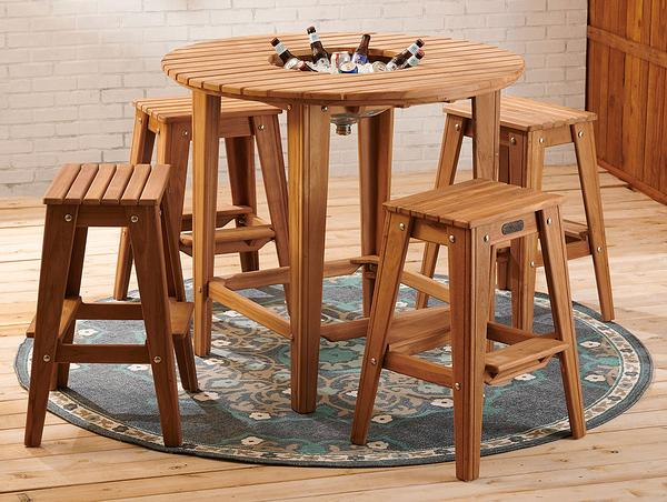 Outdoor Teak Entertaining Table