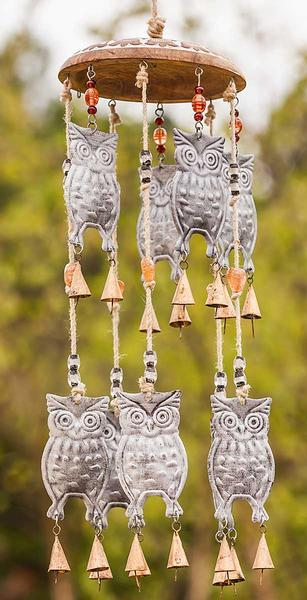 Owl Garden Bells Wind Chime