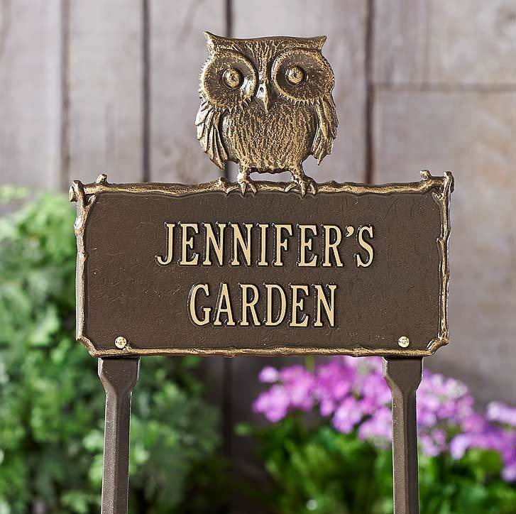 Owl Personalized Garden Sign