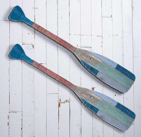 Canoe Paddles Natural Wood Wall Decor