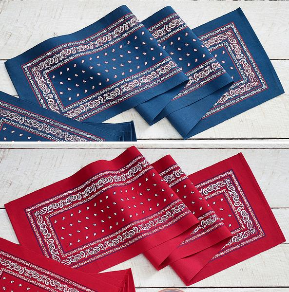 Paisley Bandana Placemats & Runner Collection