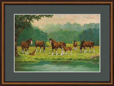 Pastoral-Clydesdales Art Collection