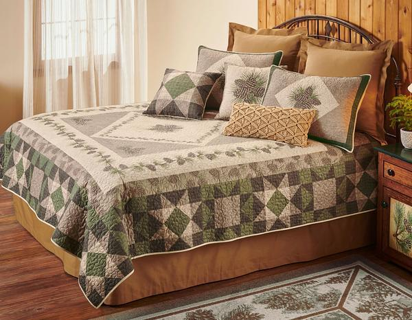 Patchwork Pinecones Bedding Set