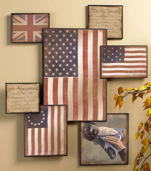 <I>Americas History</i> Wall Collage