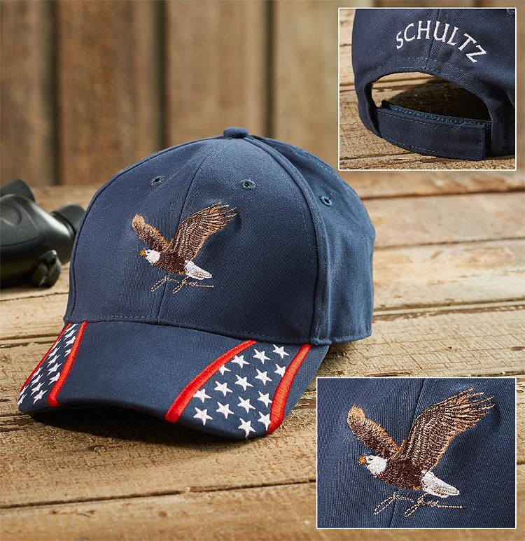 Navy American Eagle Personalized Cap