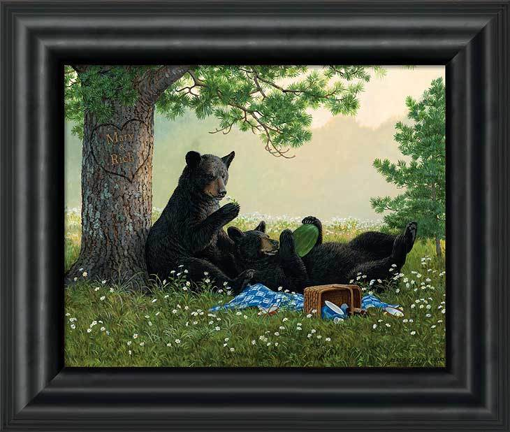 Black Bears Personalized Framed Canvas