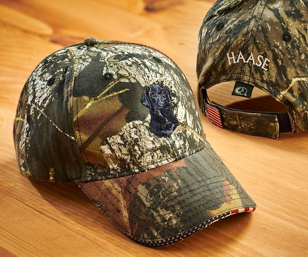 <I>Black Lab And Camo</i> Personalized Cap