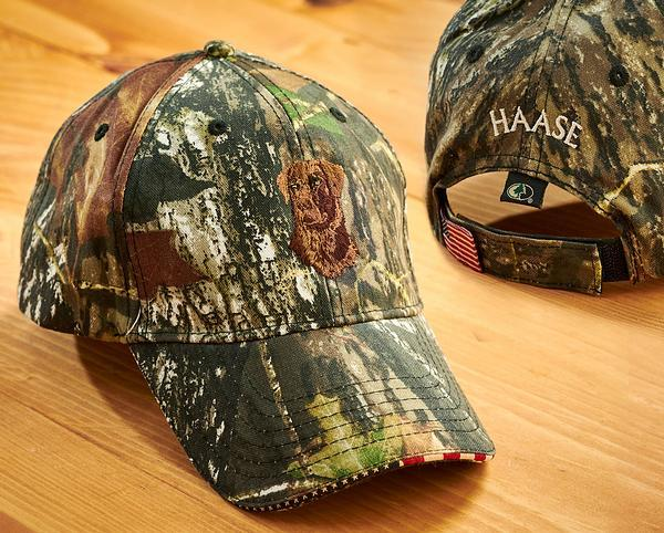 Chocolate Lab And Camo Personalized Cap