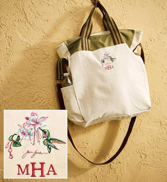 Hummingbird Personalized Tote