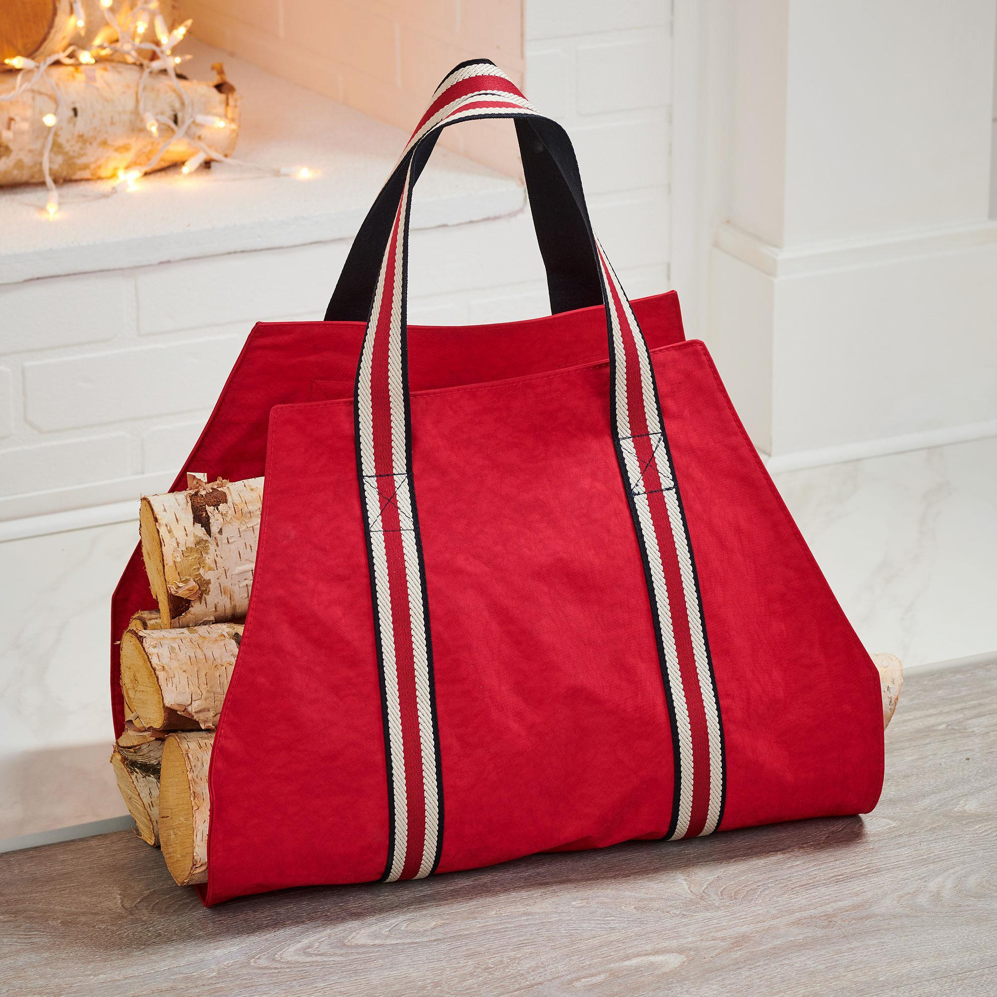 Red Log Carrier Bag