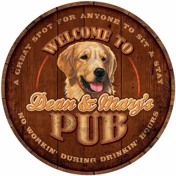 Thirsty Dog Pub—Golden Retriever