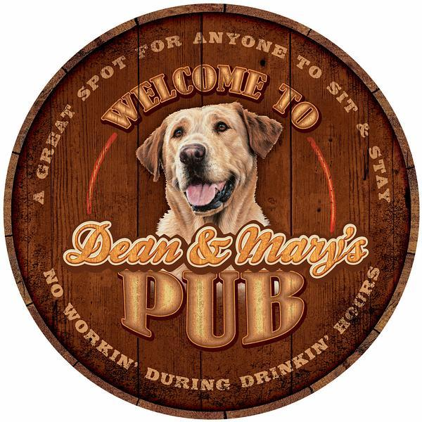 Thirsty Dog Pub—Yellow Lab.
