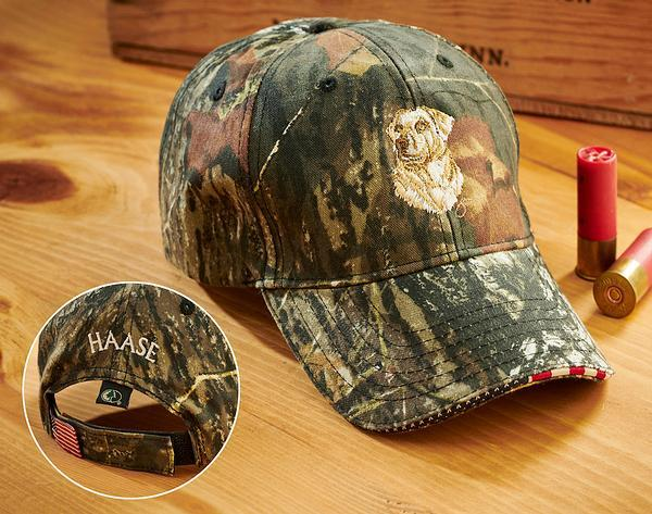 Yellow Lab And Camo Personalized Cap