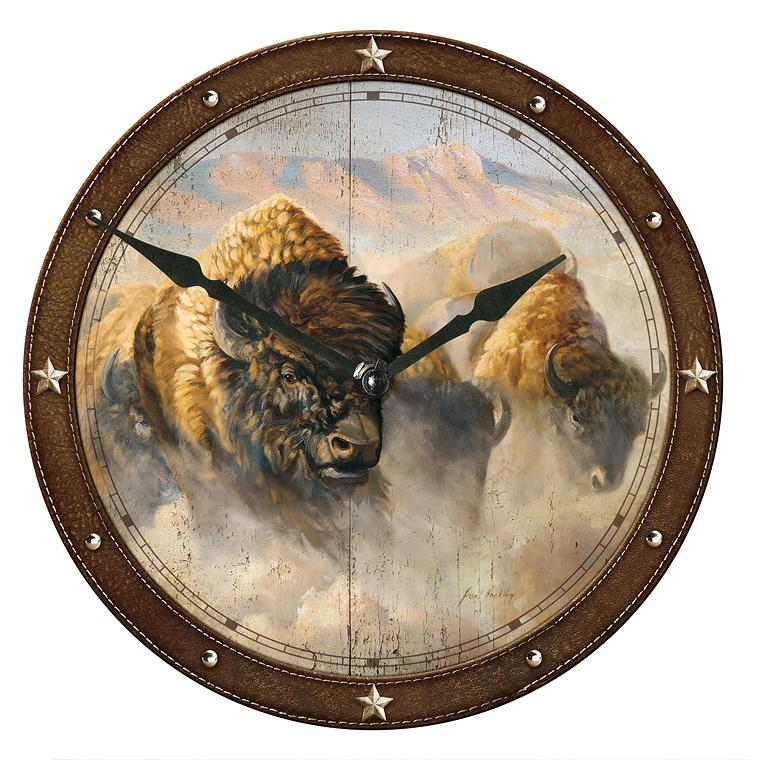 Phantoms Of The Plain—bison 11 Round Clock