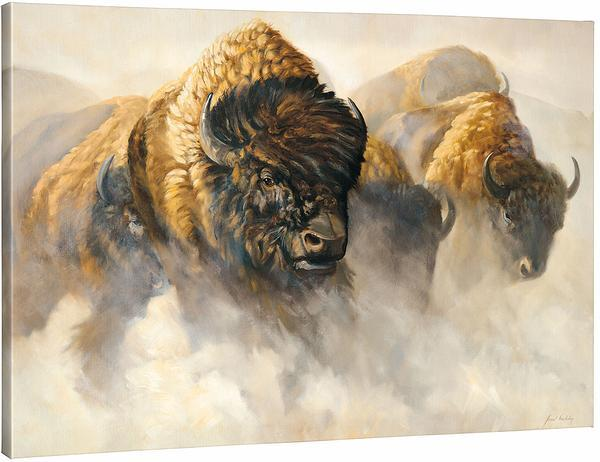 <I>Phantoms Of The Plains&mdash;bison</i> Gallery Wrapped Canvas