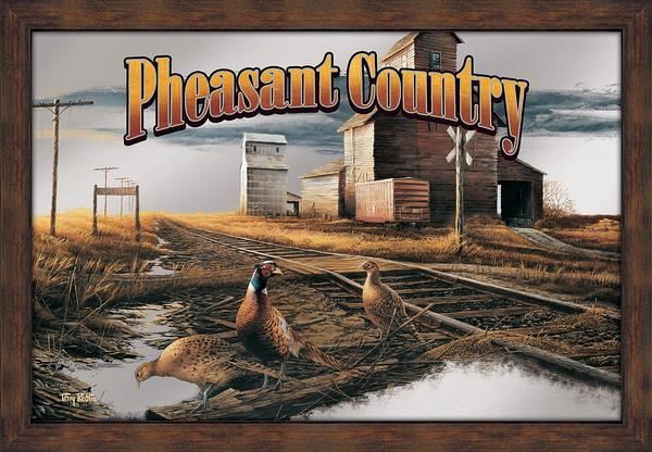 Pheasant Country Large Advertising Mirror