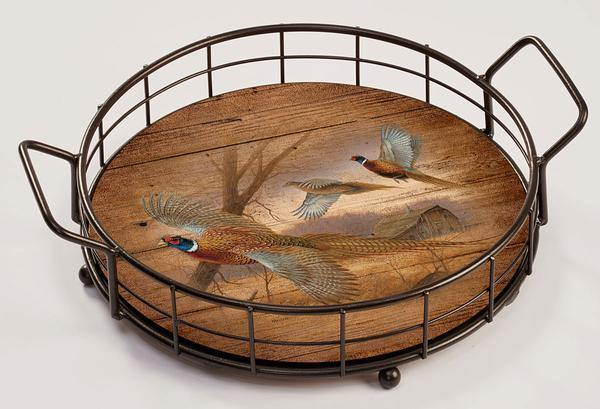 <I>Prairie Wings&mdash;pheasant</i> Serving Tray